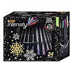 BIC® Intensity Fineliner Marker Pens, Fine/Medium Points, 0.4 mm/0.7 mm, Assorted Barrels, Assorted Ink Colors, Pack Of 24 Pens