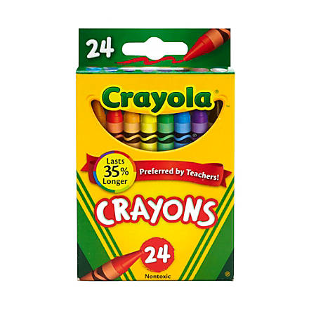 Crayola® Crayon Box, Assorted Colors, Pack Of 24