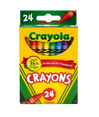 crayola crayon box assorted colors pack of 24 by office depot