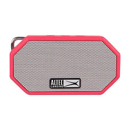 "Altec Lansing® Bluetooth® Speaker, Mini H2O 3, 2.38""H x 1.35""W x 4.3""D, Deep Red, IMW258-DR"
