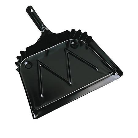 Boardwalk® Metal Dust Pan, Black