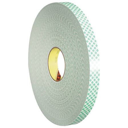 """3M™ 4032 Double-Sided Foam Tape, 3"""" Core, 0.5"""" x 216', Natural"""