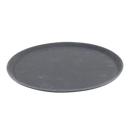 "Carlisle Griptite 2 Round Serving Tray, 14"", Black"