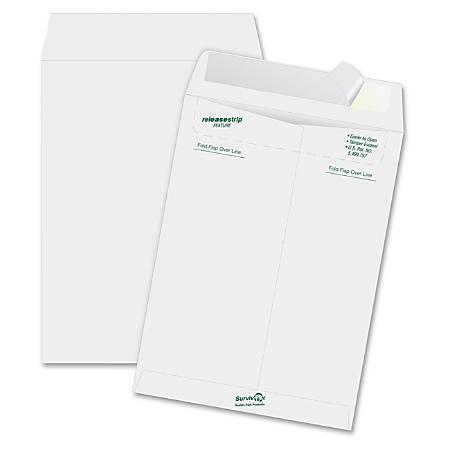 "Quality Park® Tyvek® Envelopes, 10"" x 13"", White, Box Of 50"