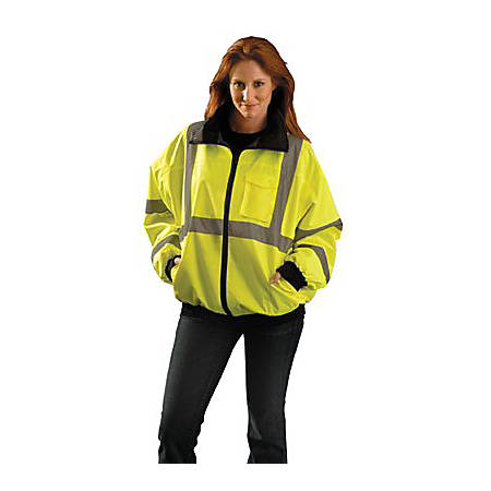 OccuNomix Economy Bomber Jackets, 2X, Yellow, Pack Of 10