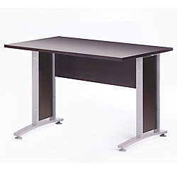 Tvilum Scanbirk Prima Foot Desk With Metal Legs Coffee By Office - 4 ft office table
