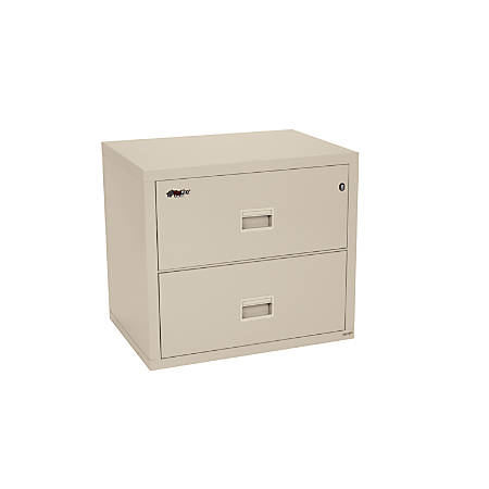 "FireKing® Turtle® Insulated Fireproof Lateral Filing Cabinet, 2 Drawers, 27 3/4""H x 31 1/8""W x 22 1/8""D, White Glove Delivery"