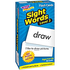 TREND Sight Words Skill Drill Flash