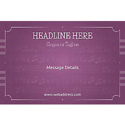 Custom Poster Musical Notes Horizontal