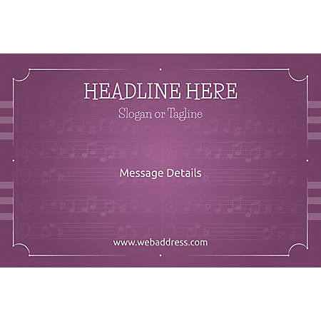 Custom Poster, Musical Notes, Horizontal