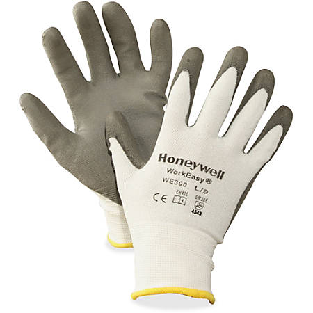 NORTH Workeasy Dyneema Cut Resist Gloves - Polyurethane Coating - Medium Size - High Performance Polyethylene (HPPE) Liner - Gray, Light Gray - Cut Resistant, Flexible, Abrasion Resistant, Lightweight, Puncture Resistant, Comfortable, Durable, Knitted