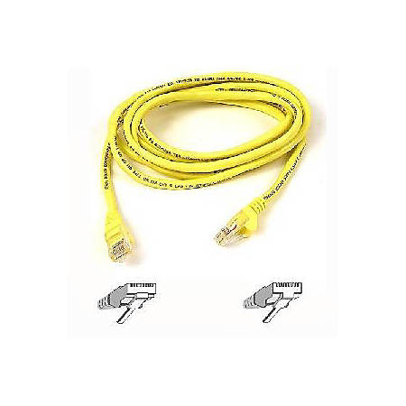 Belkin Cat. 5E UTP Patch Cable - RJ-45 Male - RJ-45 Male - 1ft - Yellow