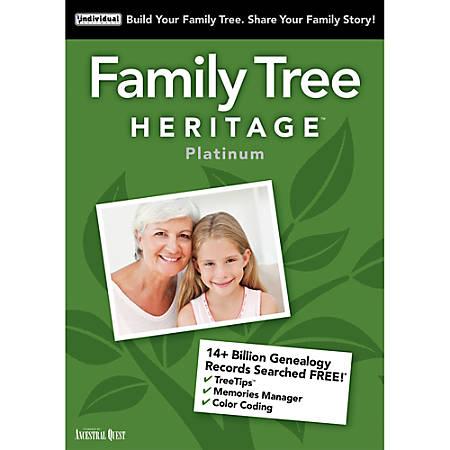 Family Tree Heritage Platinum 15 - Windows, Download Version