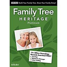Family Tree Heritage Platinum 15 Windows