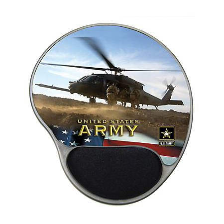 "Integrity Ergonomic Mouse Pad, 8.5"" x 10"", Army Copter, Pack Of 6"