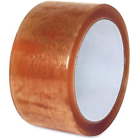 "Sparco Natural Rubber Carton Sealing Tape - 2"" Width x 110 yd Length - Natural Rubber - Durable - 36 / Carton - Clear"