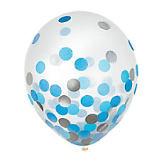 Amscan 12 Confetti Balloons BlueSilver 6