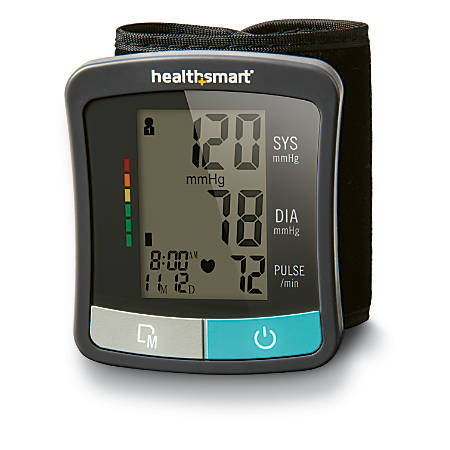 HealthSmart® Standard Series Wrist Digital Blood Pressure Monitor, Black/Gray