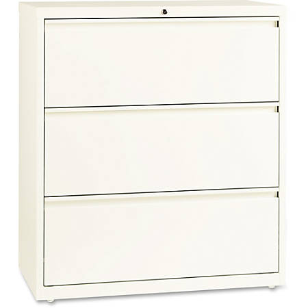 """Lorell® 36""""W Lateral 3-Drawer File Cabinet, Metal, Cloud"""