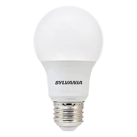 Sylvania A19 450 Lumens LED Bulbs, 6 Watt, 5000 Kelvin/Daylight, Pack Of 6 Bulbs