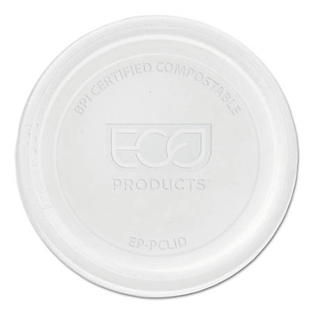 Eco-Products® Portion Cup Lids for 2-4-Oz Portion Cups, Clear, 100 Lids Per Pack, 20 Packs Per Case