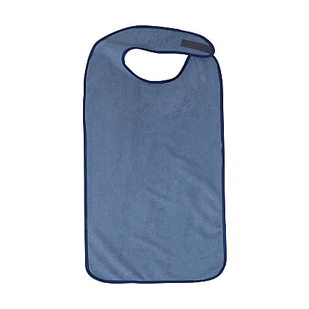 Dmi bib mealtime clothing protector adult navy by office for Office depot shirt printing