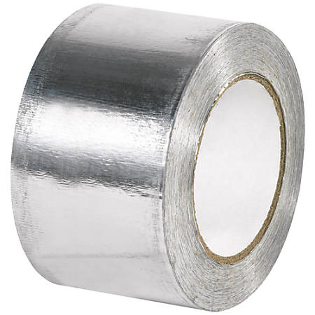"B O X Packaging Industrial Aluminum Foil Tape, 3"" Core, 3"" x 60 Yd., Silver"