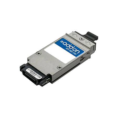 AddOn Cisco ONS-GC-GE-ZX Compatible TAA Compliant 1000Base-ZX GBIC Transceiver (SMF, 1550nm, 80km, SC)
