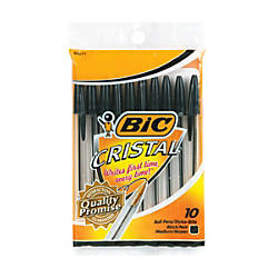 BIC Cristal Ball Pens Medium Point