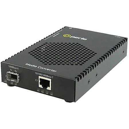 Perle S-1110P-M2SC05-XT Media Converter - 1x PoE (RJ-45) Ports - 1 x SC Ports - Multi-mode - 10/100/1000Base-T, 1000Base-SX - Desktop, Rail-mountable, Rack-mountable, Wall Mountable
