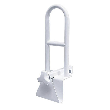 Medline Locking Bathtub Grab Bars, White, Case Of 2