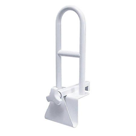 Medline Locking Bathtub Grab Bars, White, Case Of 2