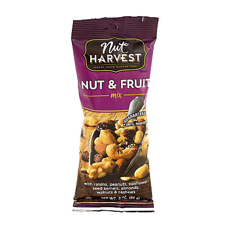 Nut Harvest Nuts, Fruit and Nut Mix, 3 Oz, Box Of 8
