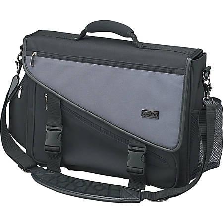 "Tripp Lite Profile Brief Bag Notebook / Laptop Computer Carry Case Nylon - Top-loading - Nylon - Charcoal Gray, Black"""