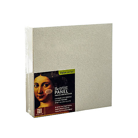 """Ampersand Artist Panel Canvas Texture Cradled Profile, 6"""" x 6"""", 1 1/2"""", Pack Of 2"""