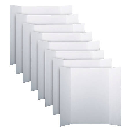 """Flipside Corrugated Project Boards, 48"""" x 36"""", White, Pack Of 8"""
