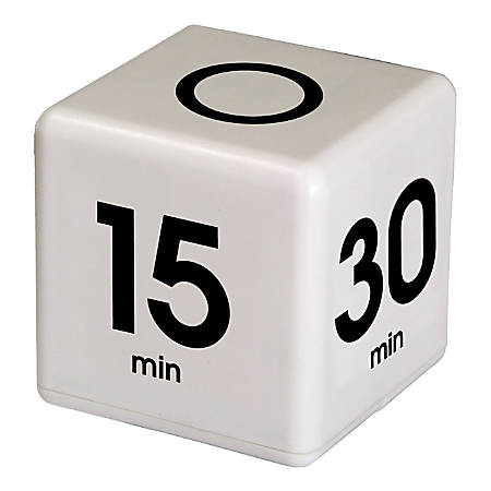 Datexx Time Cube® Preset Timer, White, Pre-K - College