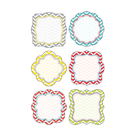 Barker Creek® Accents, Double-Sided, Chevron Beautiful, Pack Of 36