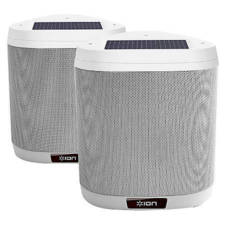 ION Keystone 2.1 Speaker System - 80 W RMS - Wireless Speaker(s) - Battery Rechargeable - Wall Mountable - White