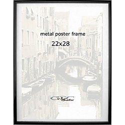 gemline metal poster frame 22 x 28 black pack of 5 by office depot officemax. Black Bedroom Furniture Sets. Home Design Ideas