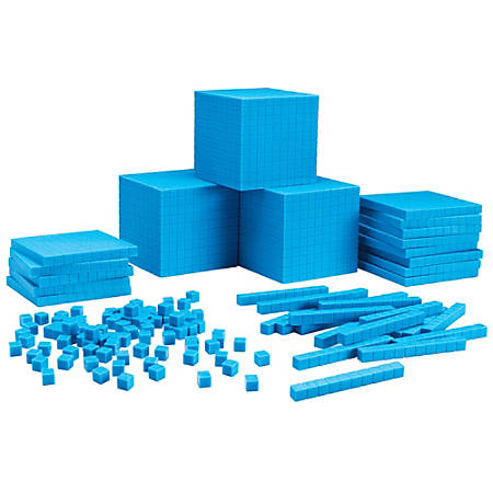 Learning Resources® Base Ten Class Set, Grade 1 - College, Blue