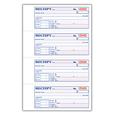 Adams Carbonless 2 Part MoneyRent Receipt