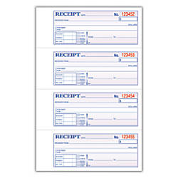 "Adams® Carbonless 2-Part Money/Rent Receipt Book, 7 5/8"" x 11"", Book Of 200 Sets Item # 436840 