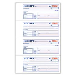 Adams Carbonless 2 Part MoneyRent Receipt