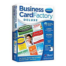 Business Card Factory Deluxe 4 Traditional