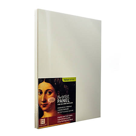 "Ampersand Artist Panel Canvas Texture Cradled Profile, 11"" x 14"", 3/4"", Pack Of 2"