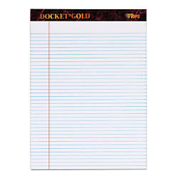 TOPS Docket Gold Perforated Writing Pads