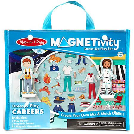 Melissa & Doug Pretend Play Educational Toys, Magnetivity Dress & Play Careers