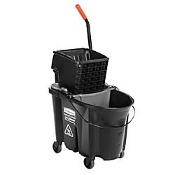 Rubbermaid WaveBrake Plastic Side Press WringerBucket