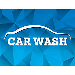 Customizable Yard Sign Car Wash Blue